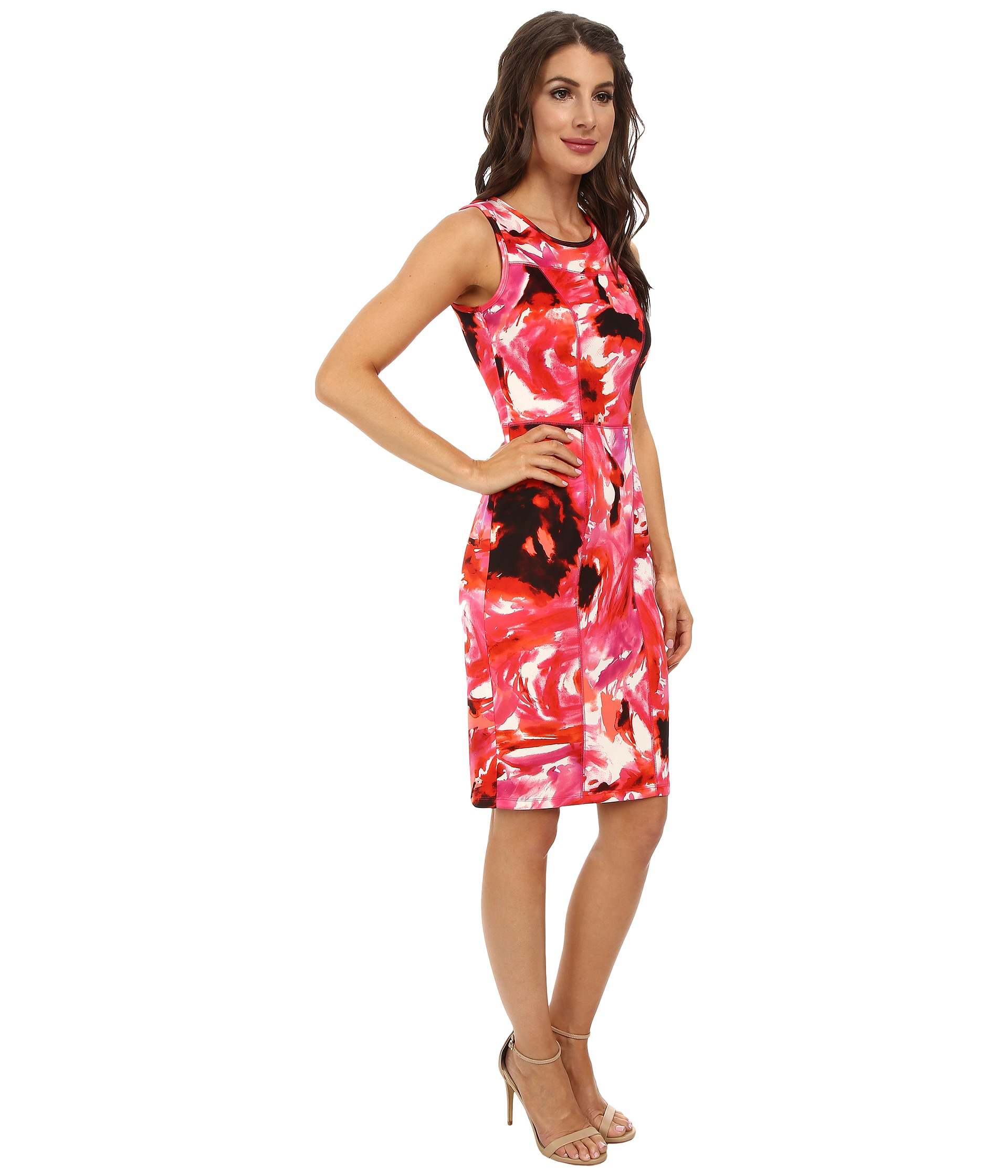 Maggy London Green Floral Dress