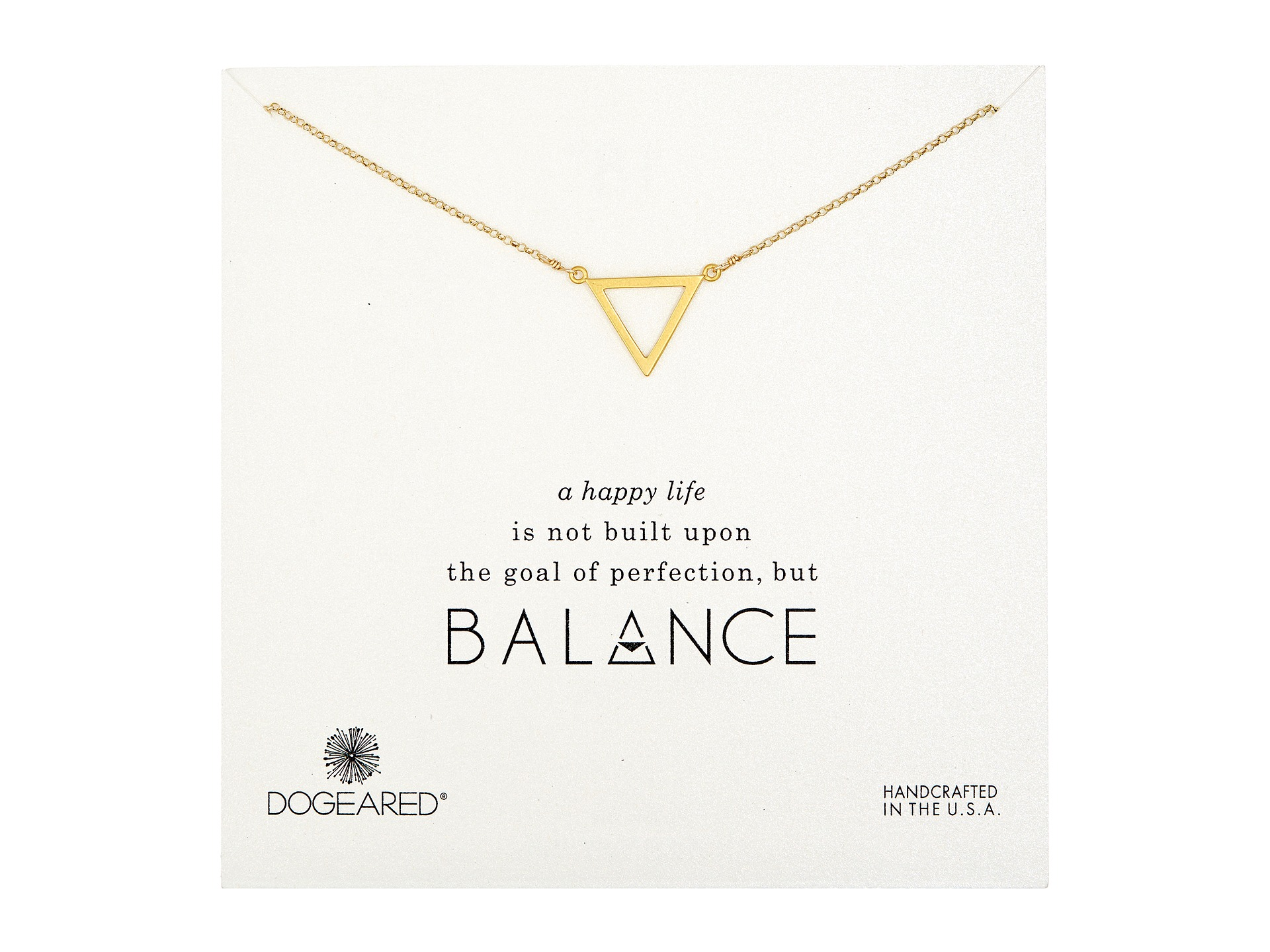 Dogeared Balance Large Open Triangle Necklace