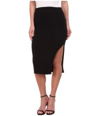 LNA - Double Layer Pencil Skirt (Black) Women's Skirt