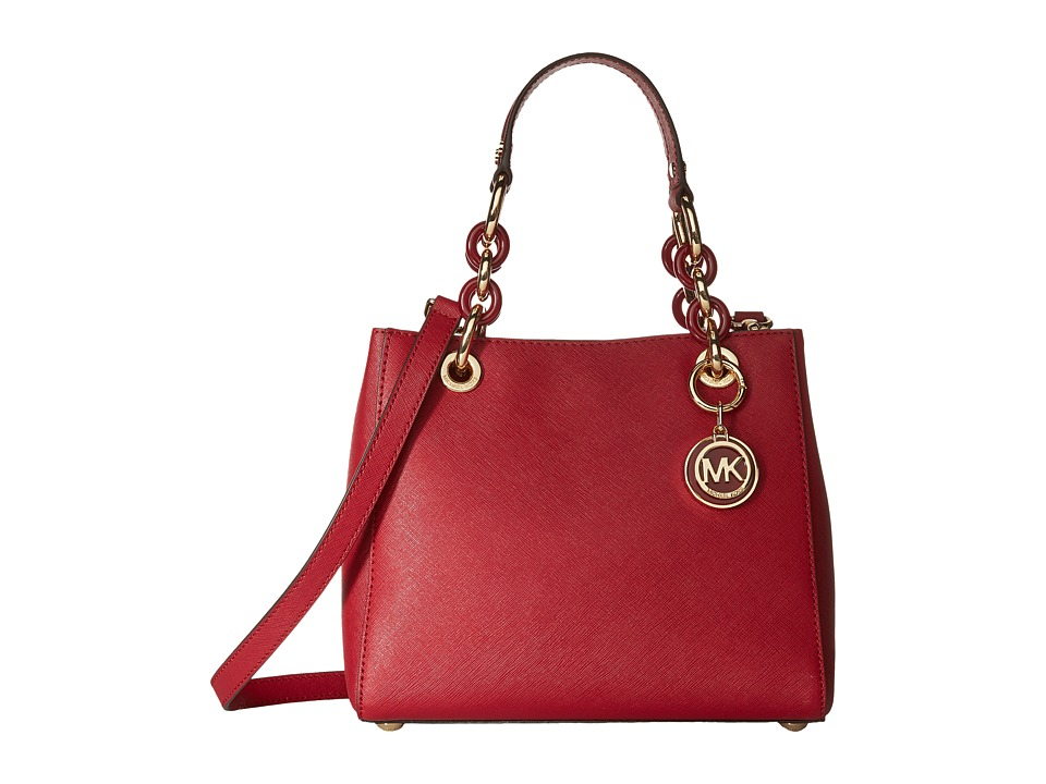 MICHAEL Michael Kors - Cynthia Small North/South Satchel (Cherry) Satchel Handbags