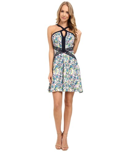 Adelyn Rae - Cross Front Dress (Multi) Women's Dress