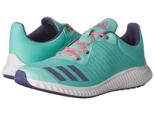 adidas Kids - FortaRun (Little Kid/Big Kid) (Easy Green/Super Purple/White) Girls Shoes