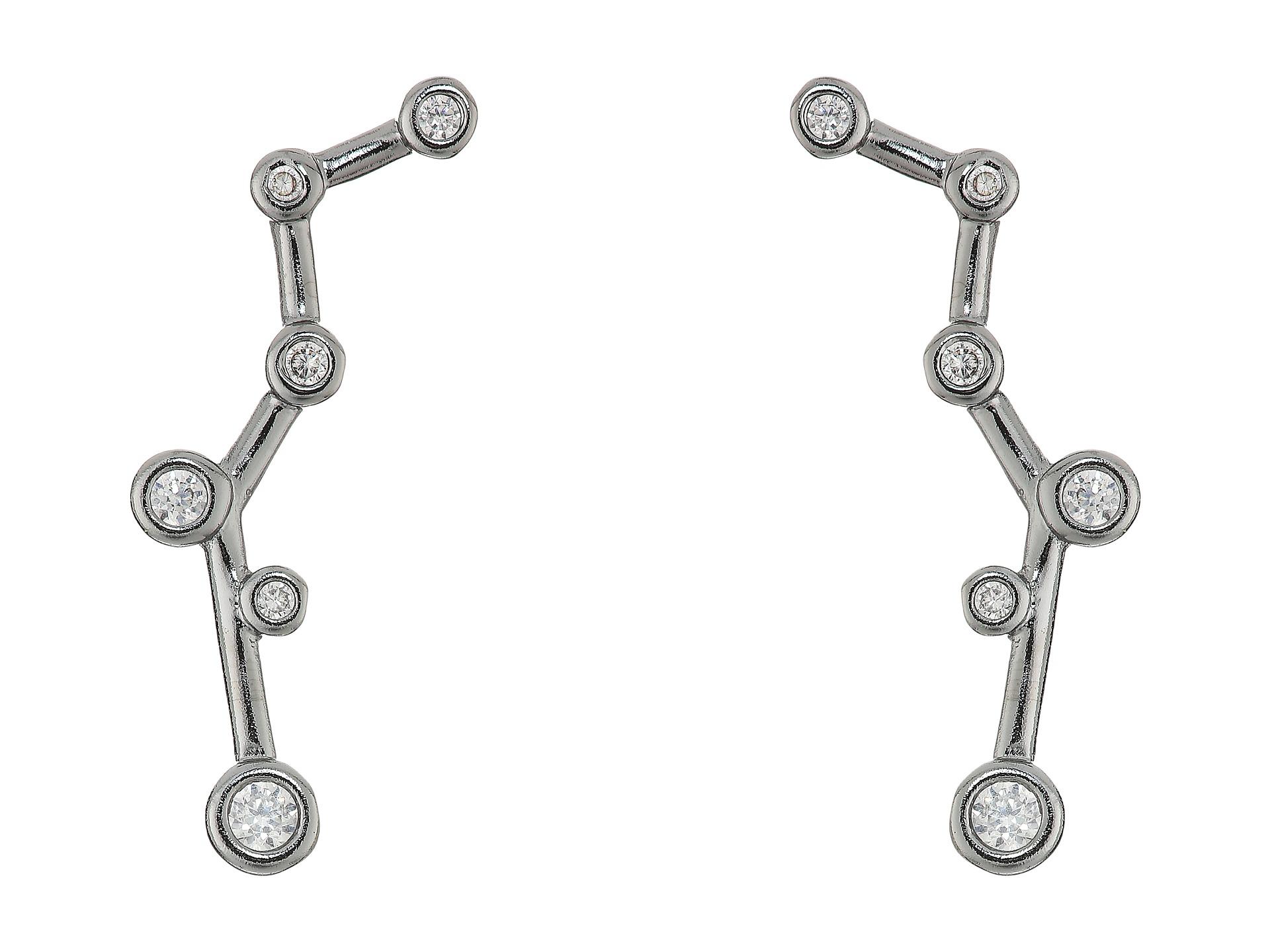 Kendra Scott Suzette Ear Climbers Earrings Hematite White