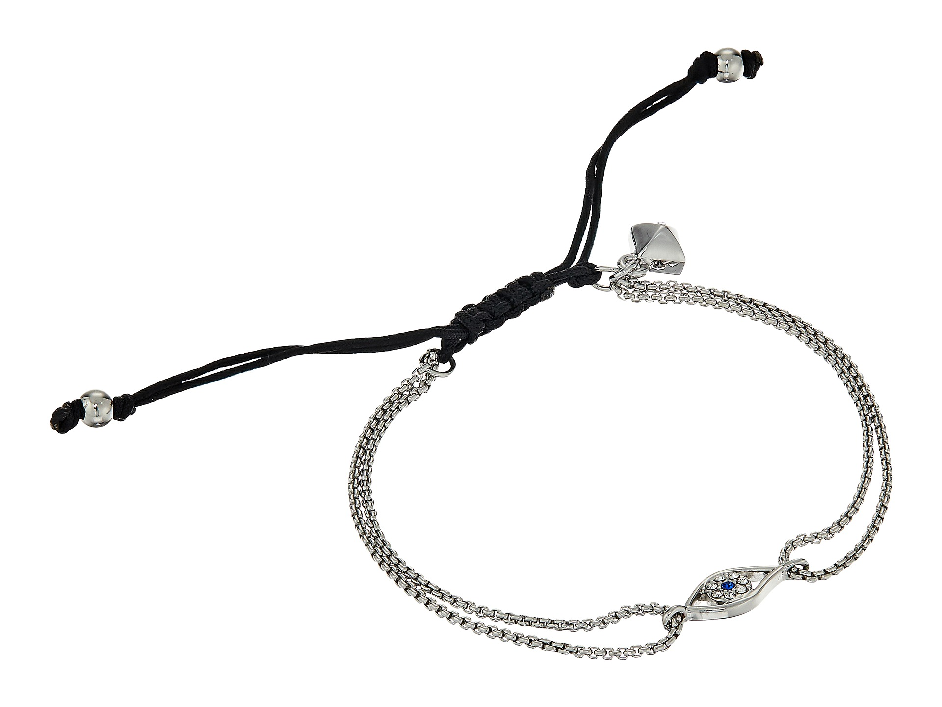 Rebecca Minkoff Evil Eye Pulley Bracelet Silver