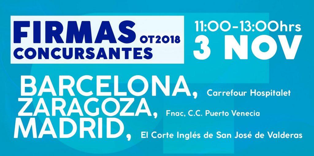 Firma de discos de OT en Zaragoza - Horario para ir a Puerto Venecia a la firma de discos de los concursantes de Operación Triunfo en Zaragoza