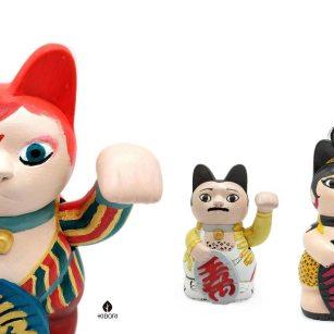 Kibori Design - Kiborinekos, maneki-nekos personalizados para regalar creados por Silvia Mollat, como David Bowie o Freddie Mercury entre otros