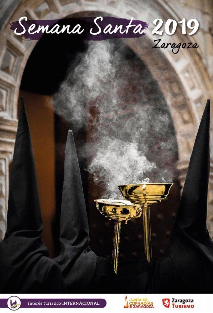 Programa de Semana Santa en Zaragoza 2019 - Cartel anunciador de la Semana Santa Zaragoza 2019 en honor a la Cofradía del Silencio