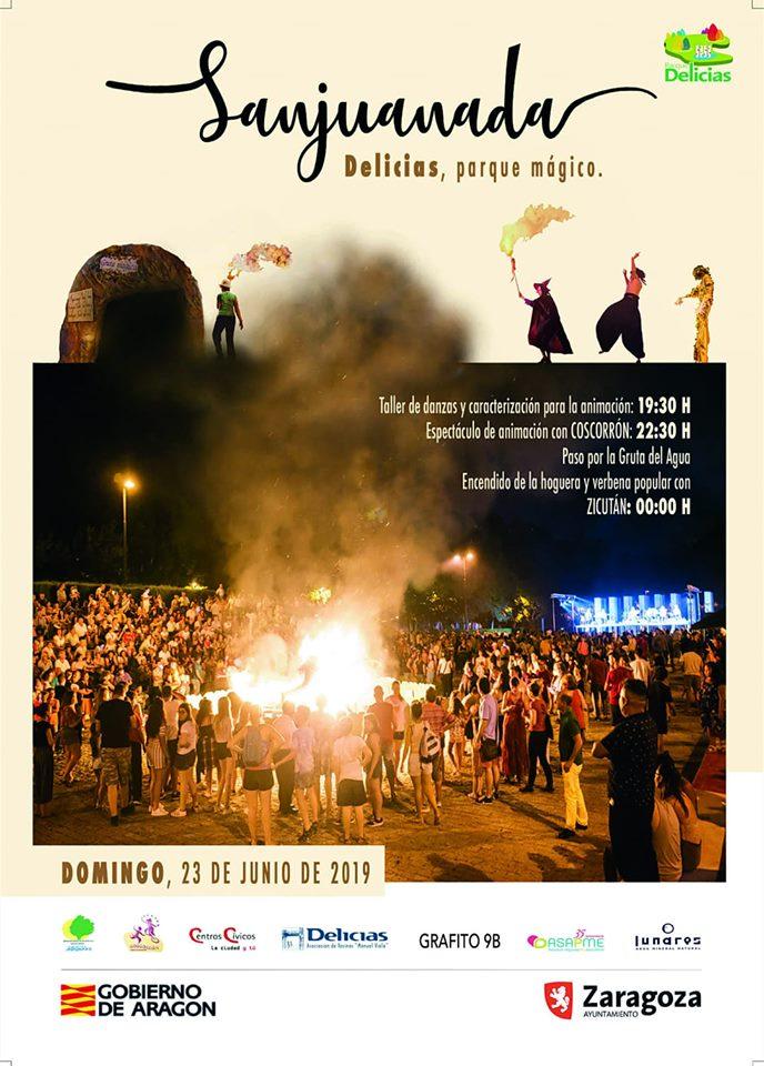 Sanjuanada en el Parque Delicias en el marco de actividades programadas en torno a las hogueras de San Juan en Zaragoza