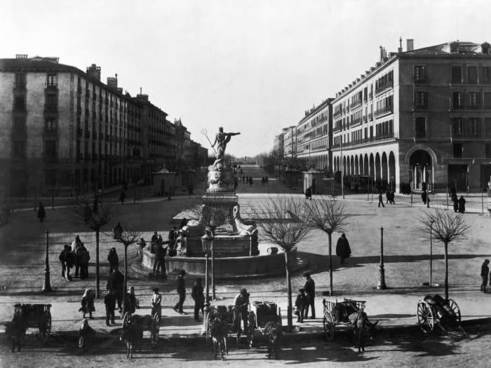Fuente de la princesa en la actual plaza de España