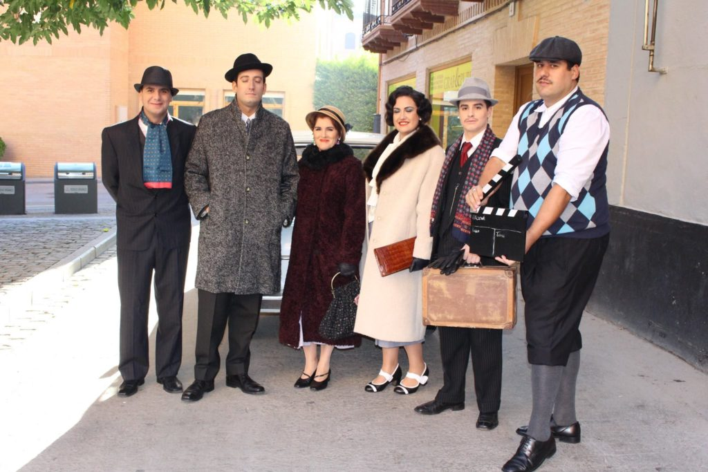 Parte del elenco de actores