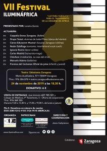 VII Festival Ilumináfrica el 24 de Noviembre a las 18.30 en el Teatro Salesianos de Zaragoza
