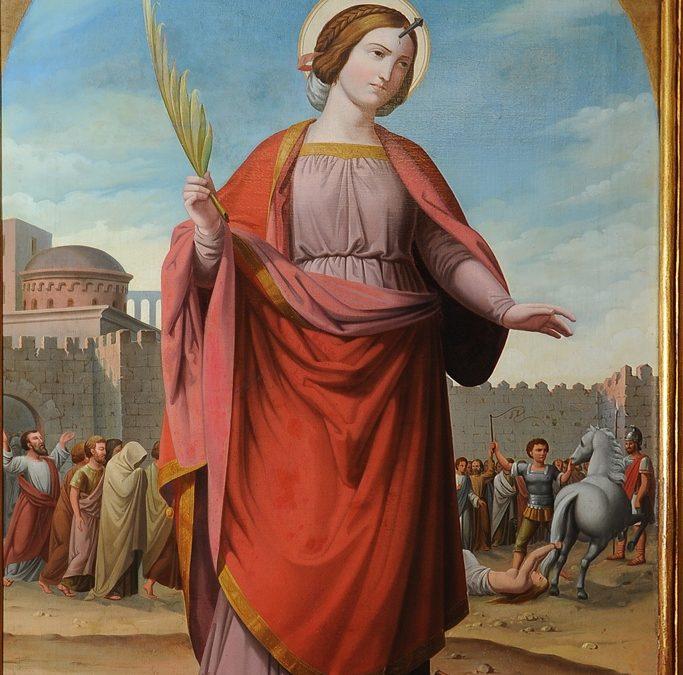 Fuente Basílica de Santa Engracia. Pintura de Santa Engracia