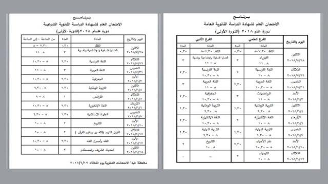 امتحان الثانوية 2018 سوريا