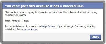 فيسبوك قام بحظر موقعي ، ما السبب و ماذا أفعل ، منع نشر لينكات الموقع على الفيس بوك