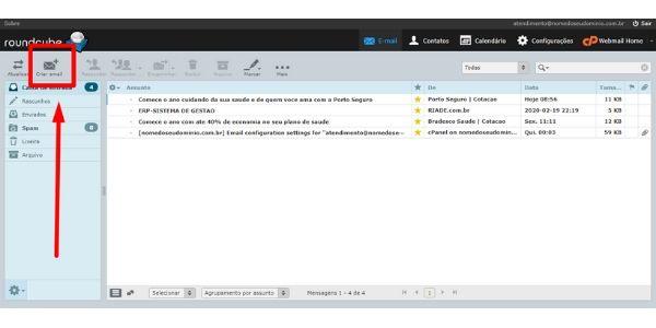 criar email roundcube