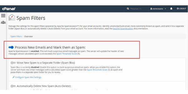 spam cpanel