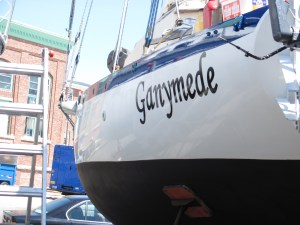 Ganymede's lettering and fresh paint