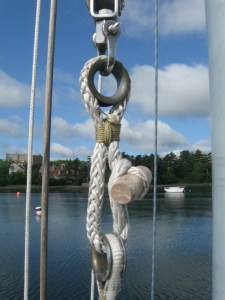 throat halyard soft shackle