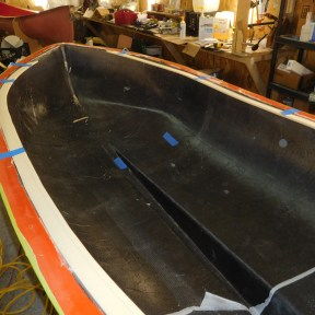 Core foam for inward-heading gunwales.