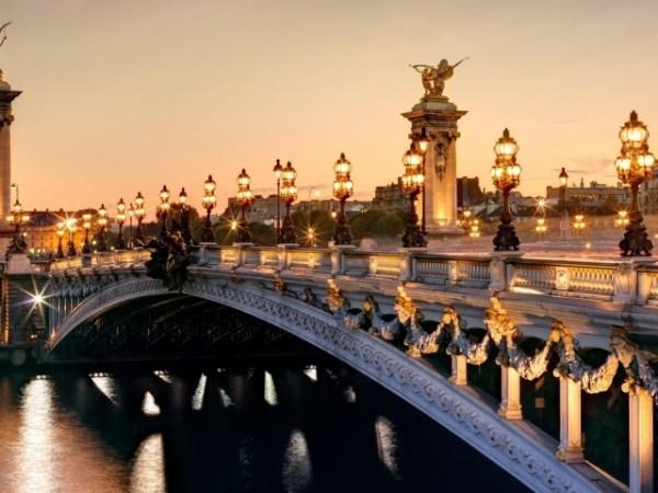 Старый город, Фонари, Мост, франция - обои для рабочего ...