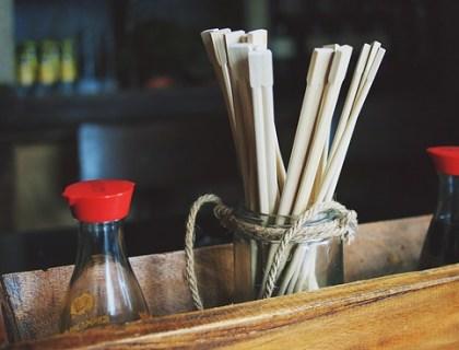 しょう油と箸