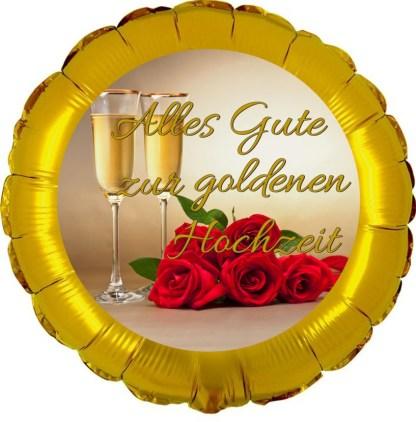 Folienballon Alles gute zur Goldenen Hochzeit