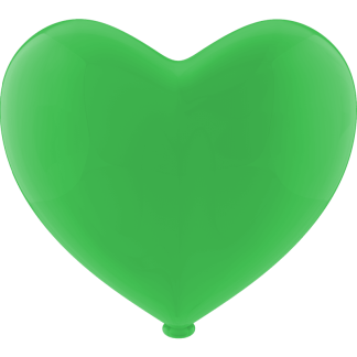 Luftballon Heliumballon Herz Apfel Grün