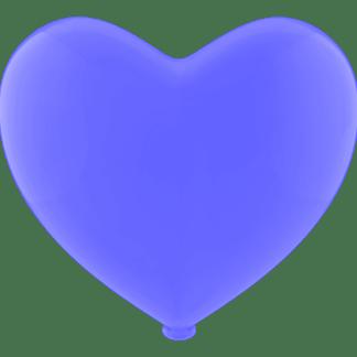 Herz - Ballon Farbe Blau