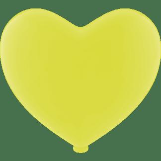 Luftballon Heliumballon Herz Gelb
