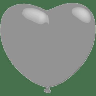Ballonherz Silber Heliumballon
