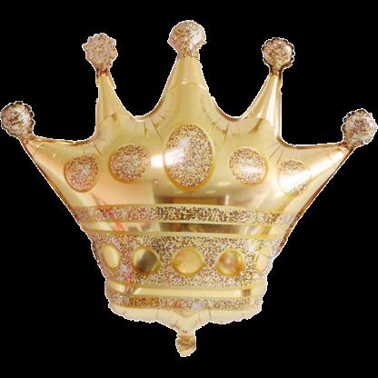 Folienballon Krone Prinzessin Gold Königin