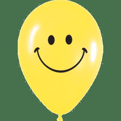 Ballon Farbe Gelb fröhlicher Smiley