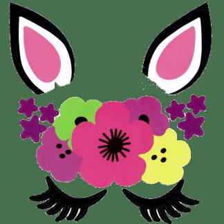 Ballonaufkleber Einhorn Flower