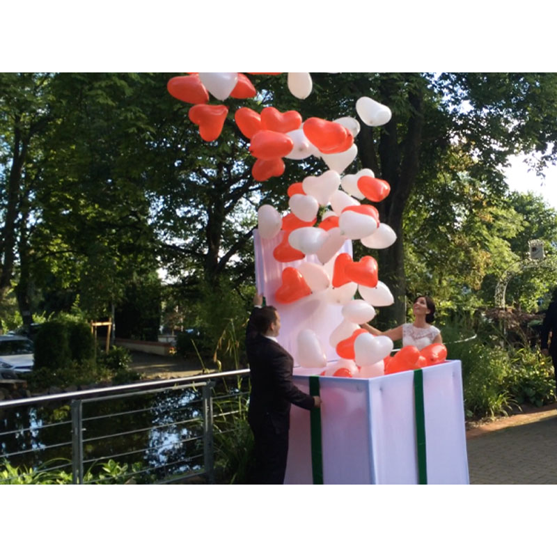 Ballonkiste Heliumballonkiste Hochzeit Heliumballons Saarland Rheinland Pfalz