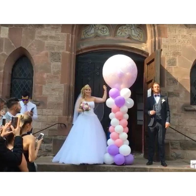 Exploding Ballon Explodierender Ballon Hochzeitsballon Heiraten Hochzeit Saarland Rheinland Pfalz 1