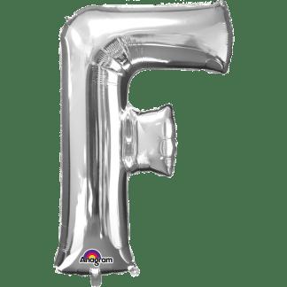Buchstabe F Silber Ballon Heliumballon