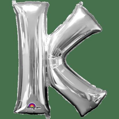 Buchstabe K Silber Ballon Heliumballon