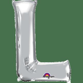 Buchstabe L Silber Ballon Heliumballon