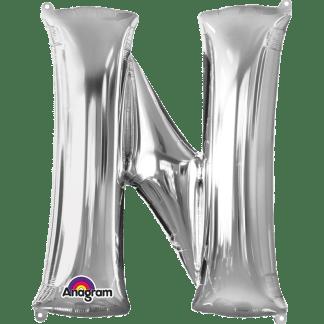 Buchstabe N Silber Ballon Heliumballon