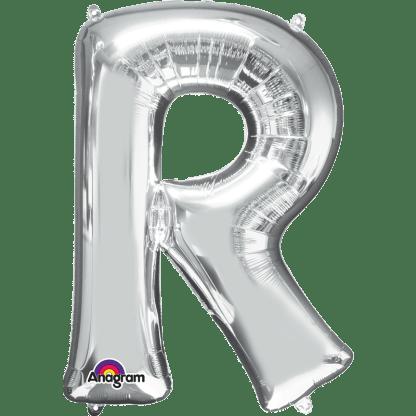 Buchstabe R Silber Ballon Heliumballon