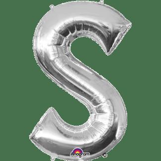 Buchstabe S Silber Ballon Heliumballon