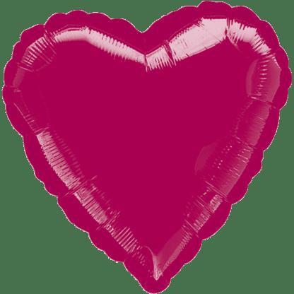 Folienballon Herz Metallic Bordeaux