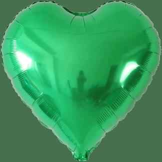 Folienballon Metallic Grün Herz