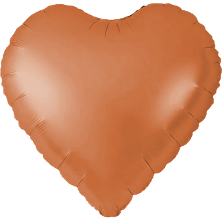 Folienballon Herz Kupfer Heliumballon