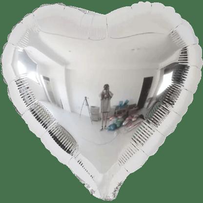 Folienballon Herz Silber Metallic Hochzeit