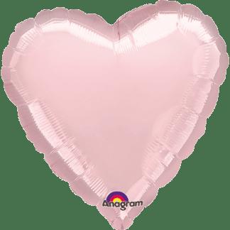 Folienballon Herz Metallic Rosa