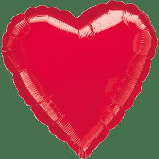 Folienballon Herz Metallic Rot