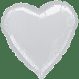Folienballon Herz Metallic Silber