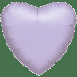 Folienballon Herz Metallic Lavendel