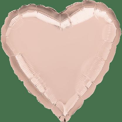 Folienballon Herz Metallic Rose Gold